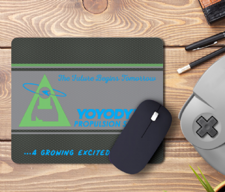 Yoyodyne Propulsion Systems PC Mouse Mat based on Buckaroo Banzai & Star Trek